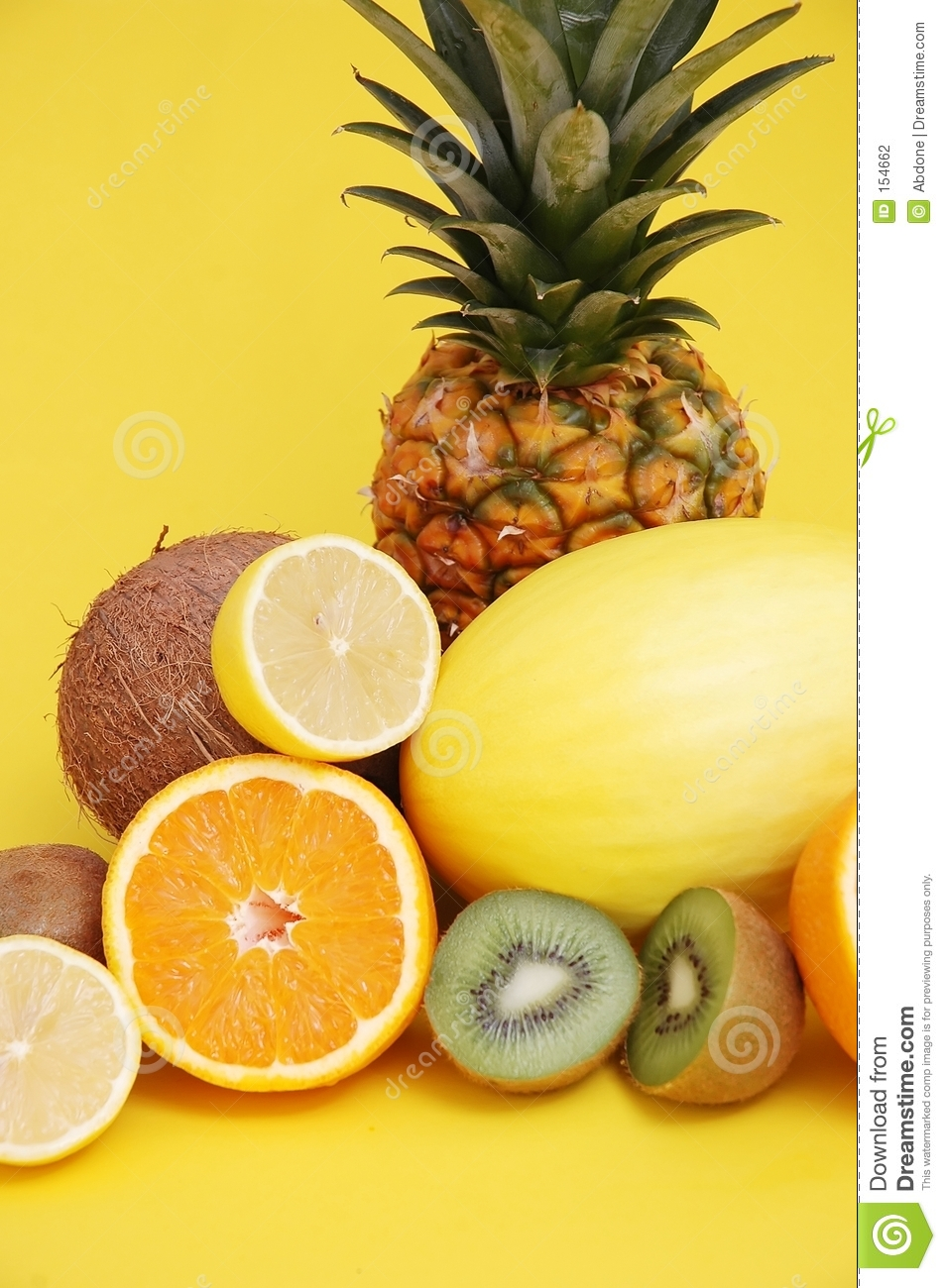 Pineapple and melon and citrus