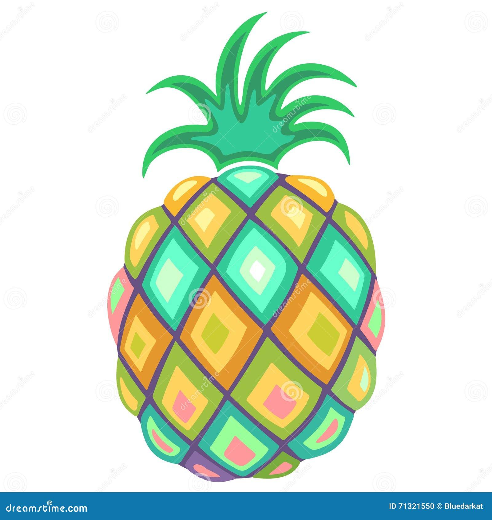 Pineapple Pastel Colors