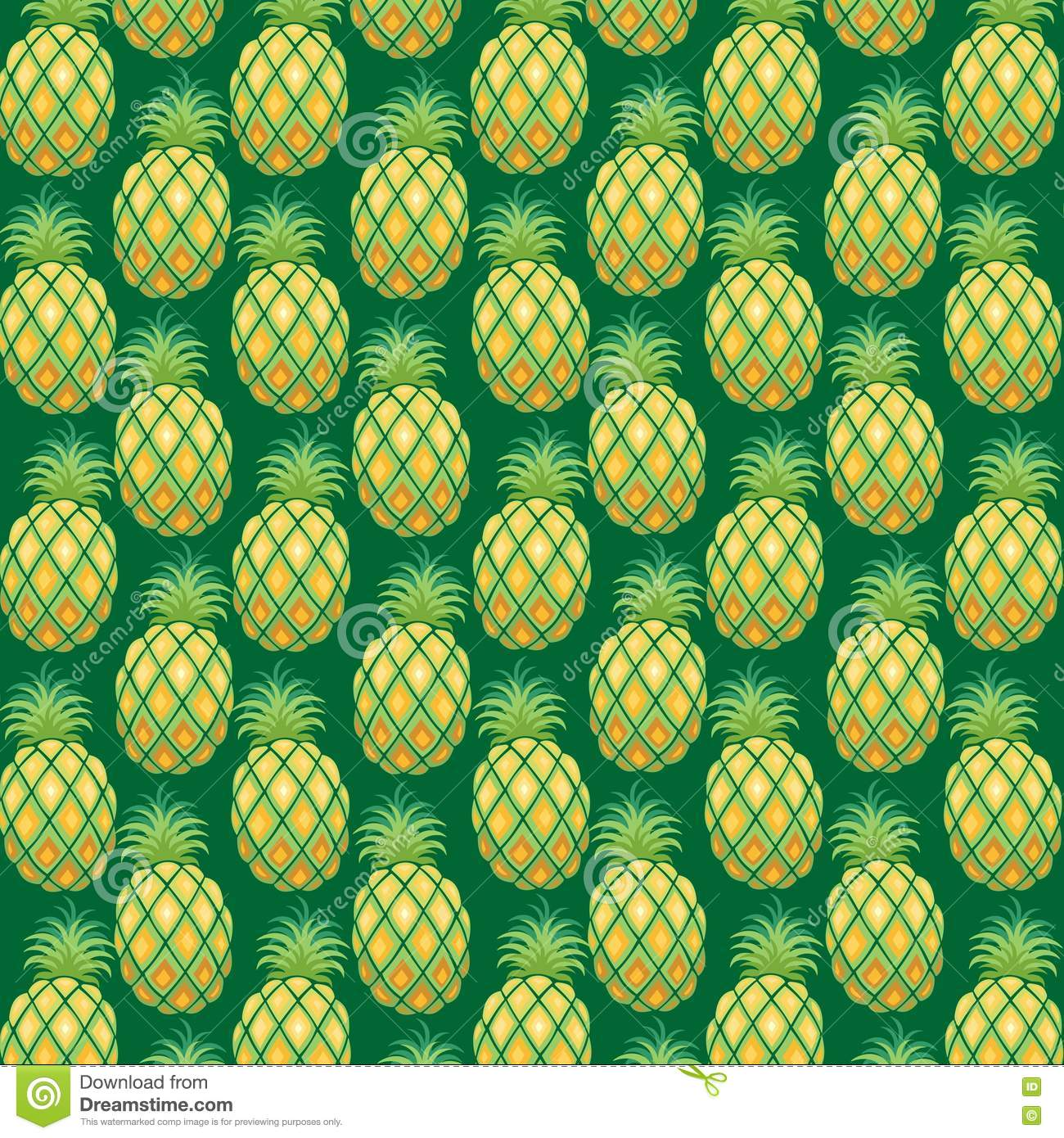 Pineapple Pattern Fabric Vector