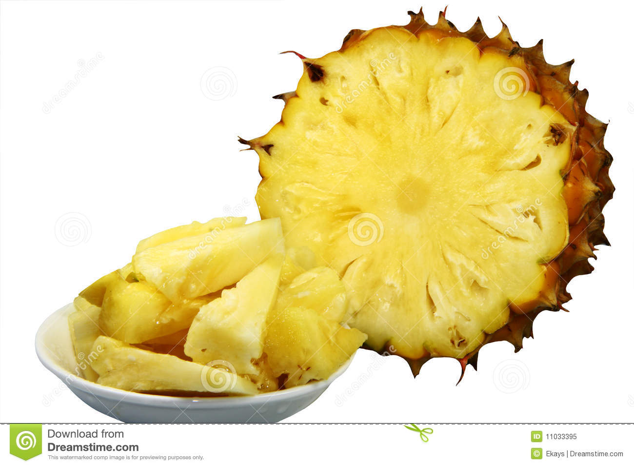Pineapple Pieces Royalty Free Stock Photo - Image: 11033395