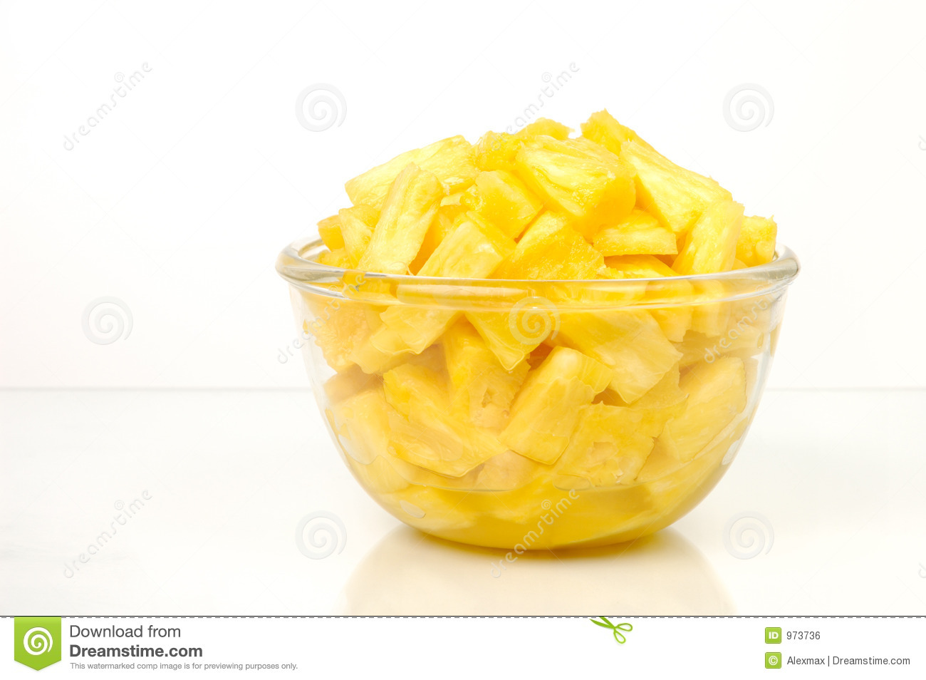Pineapple Pieces Royalty Free Stock Image - Image: 973736