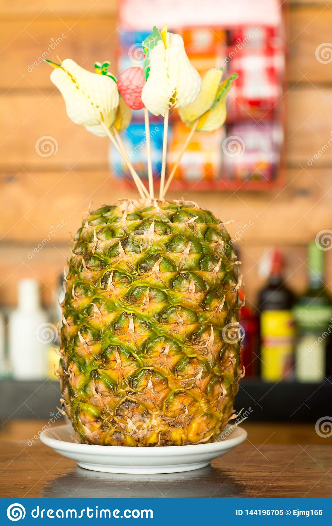 Pineapple ready to be cutted
