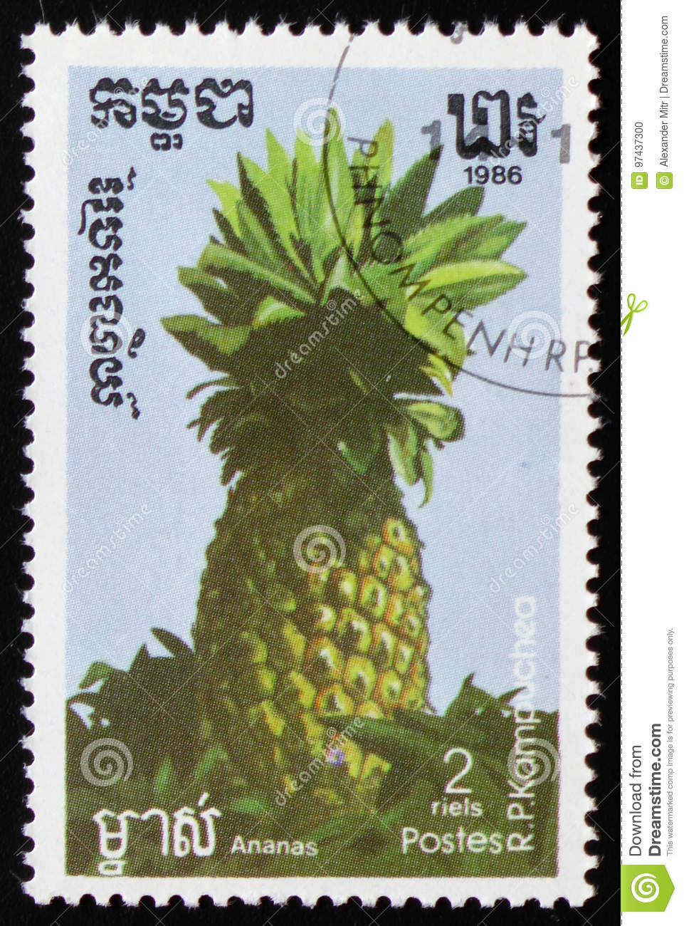 Pineapple a series of images `Exotic fruits` circa 1986