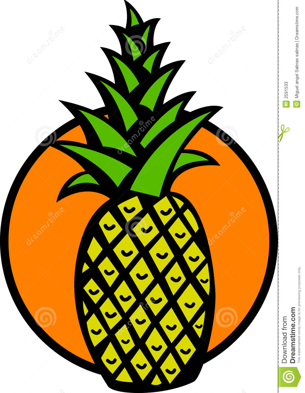 Pineapple Vector Illustration Stock Photos - Image: 2591533