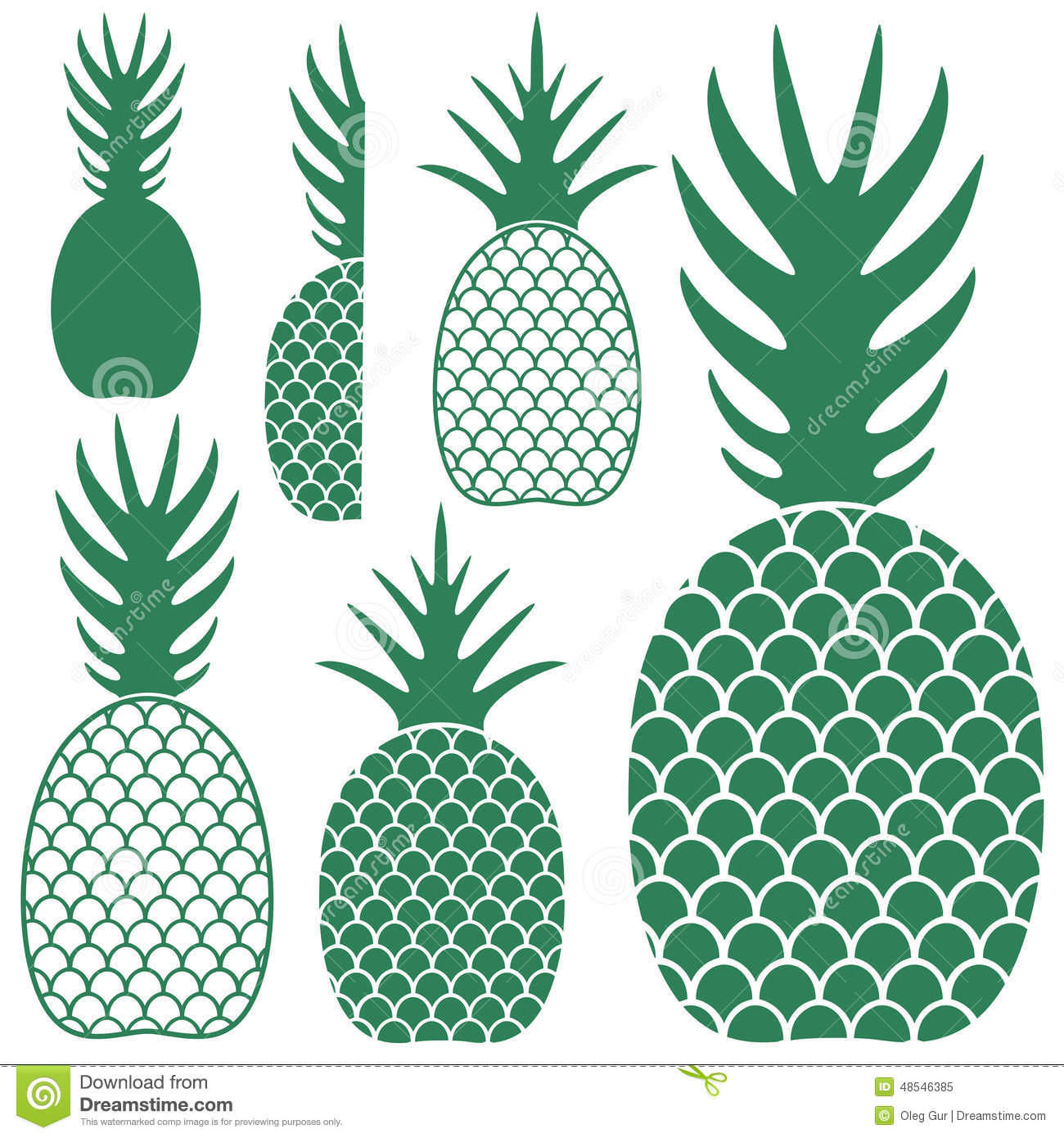 Pineapple Stock Vector - Image: 48546385