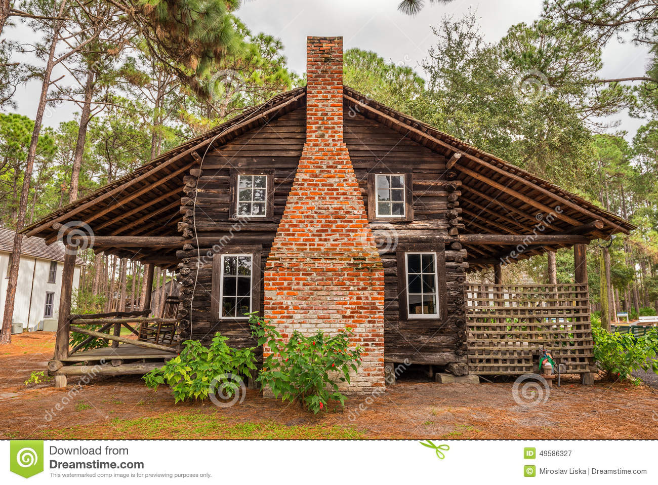 Pinellas county heritage village editorial photography for Cracker style log homes prices