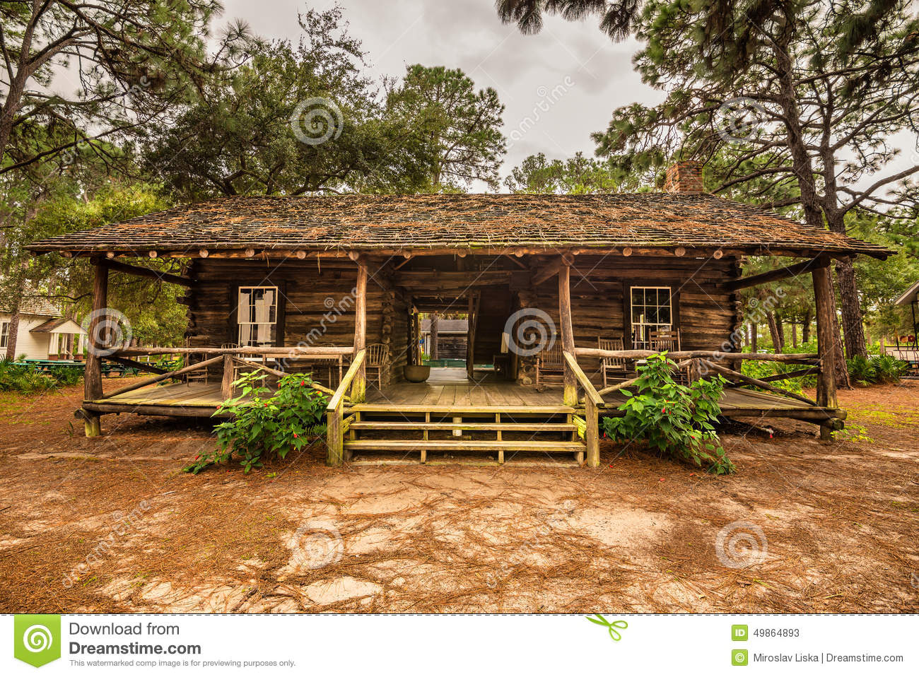 Pinellas county heritage village editorial stock photo for Florida cracker house plans wrap around porch