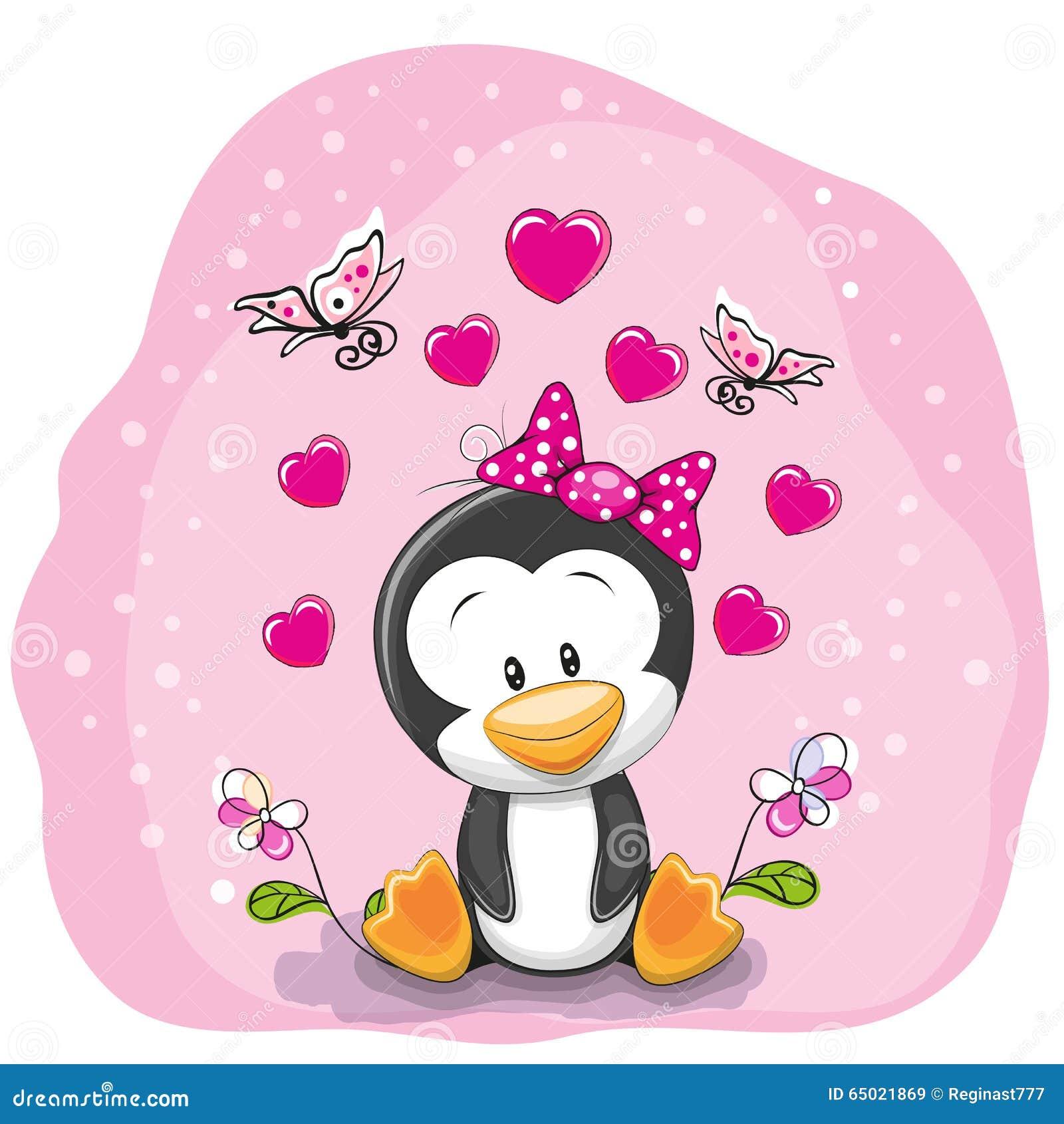 Pingüino con las flores