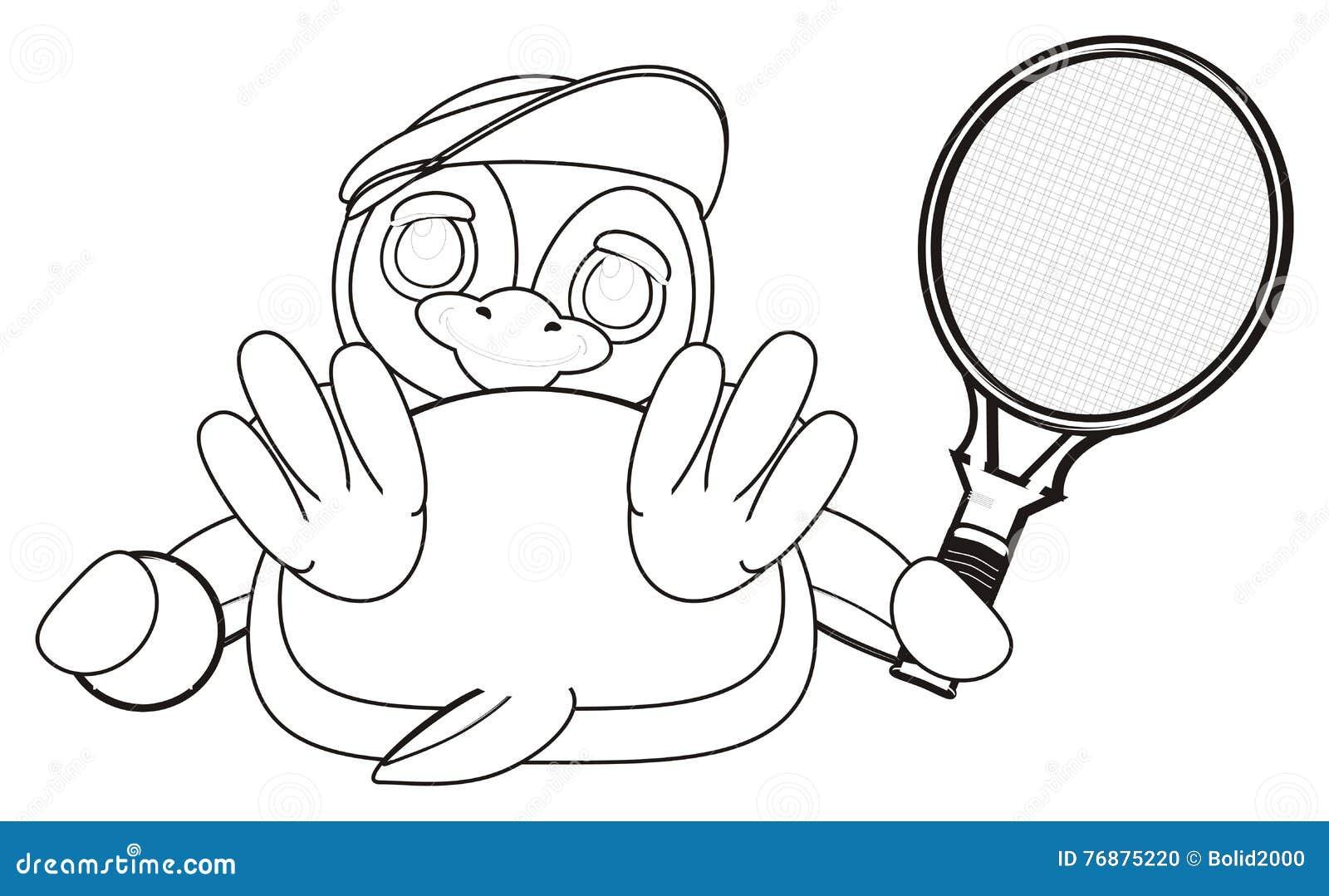 Tenis pelota stock de ilustracion ilustracion libre de stock de - Ping Ino Del Colorante Con La Pelota De Tenis Y La Estafa Stock De Ilustraci N