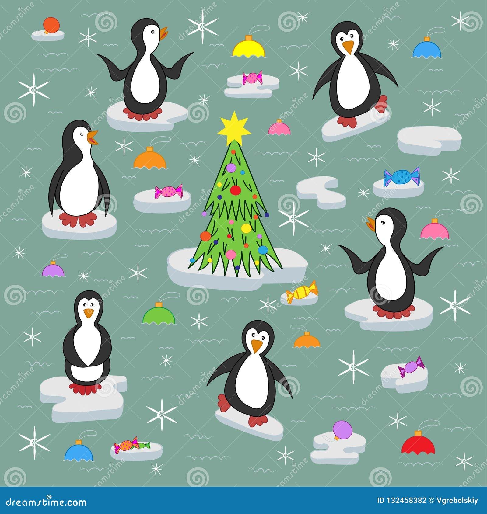 Pingüinos en las masas de hielo flotante de hielo