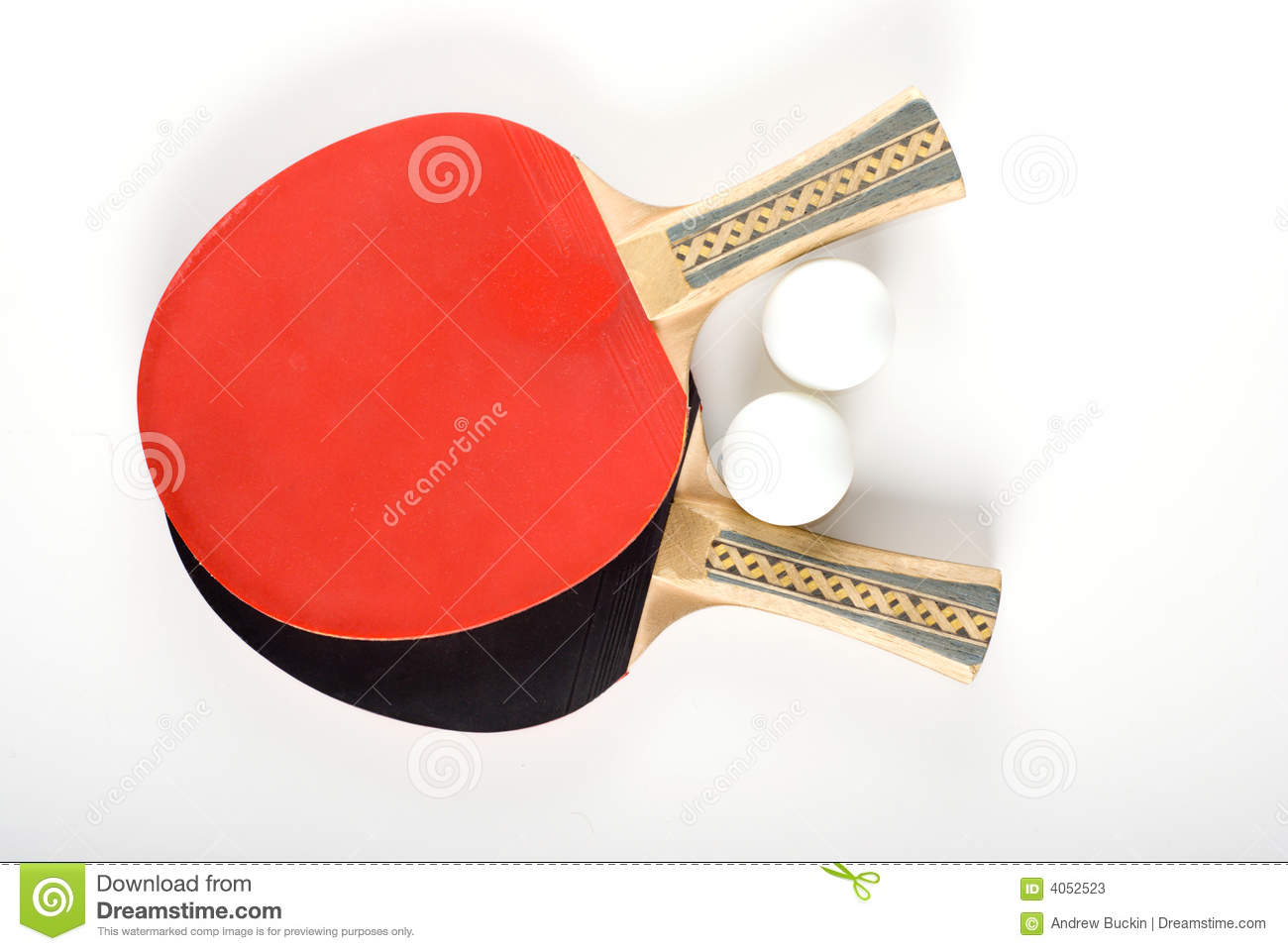 Ping-pong equipment isolated on the white background.