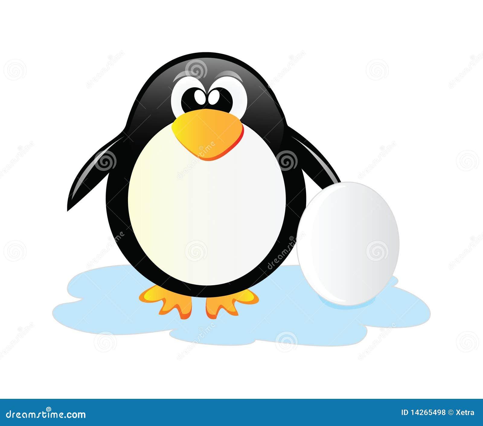 Pingouin avec l oeuf