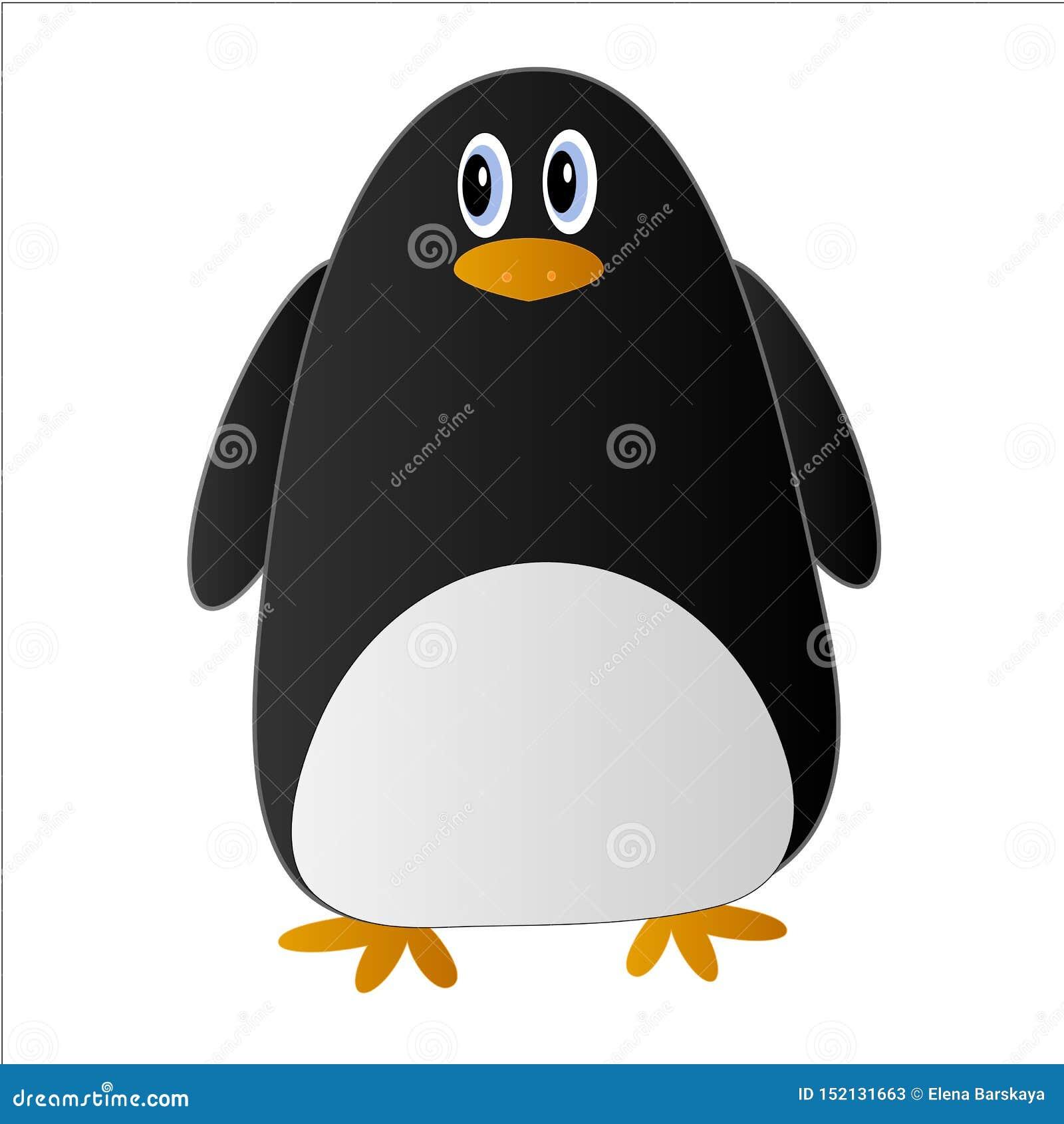 Pingouin mignon dans le style de bande dessinée