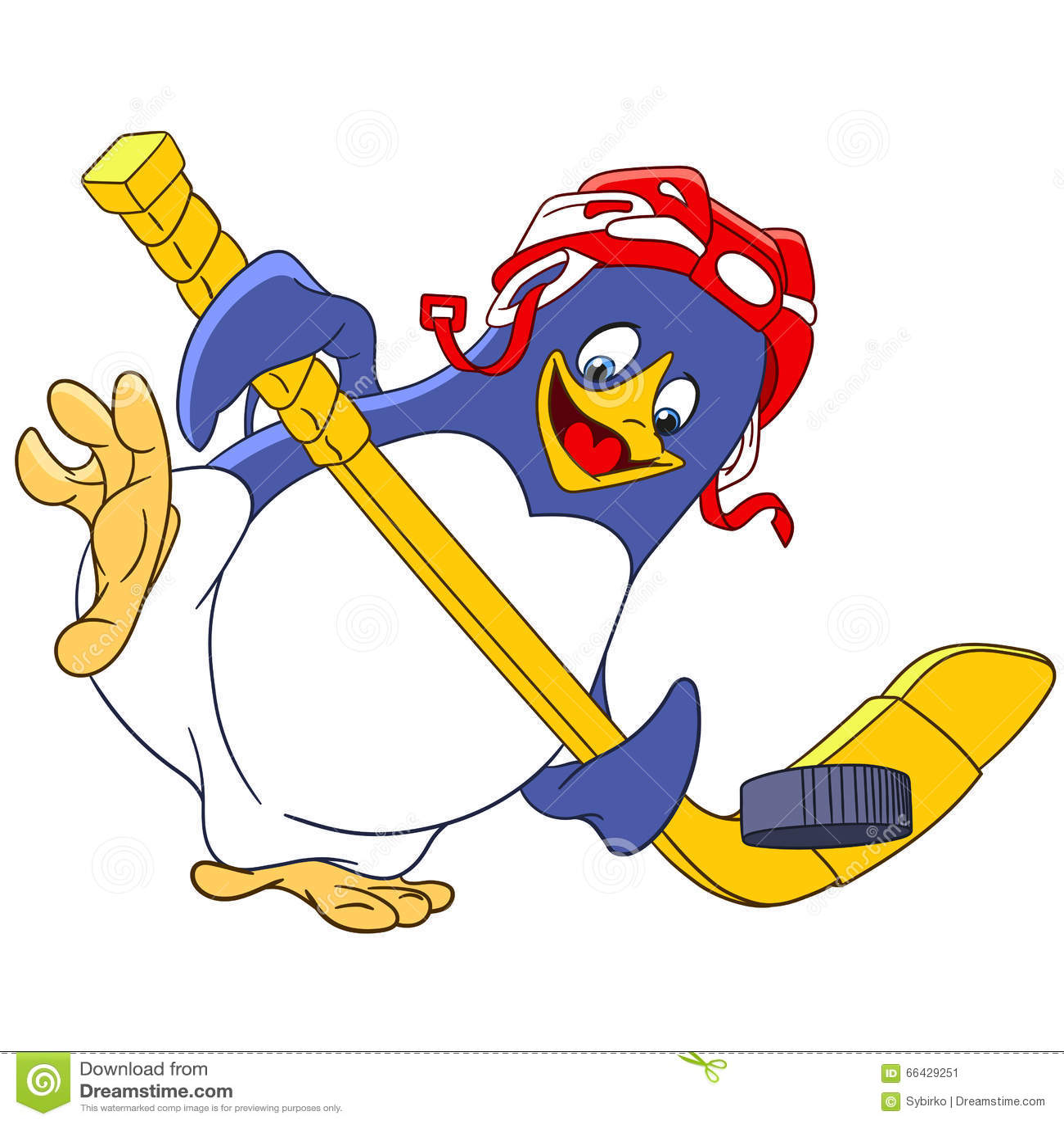 Pingouin mignon de bande dessinée