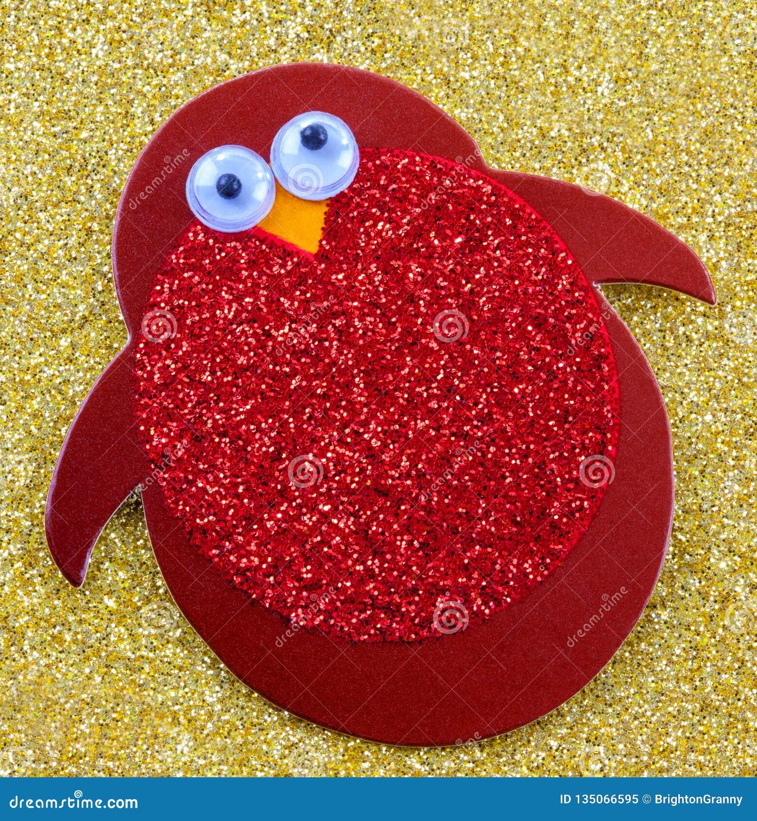 Pinguim vermelho decorativo