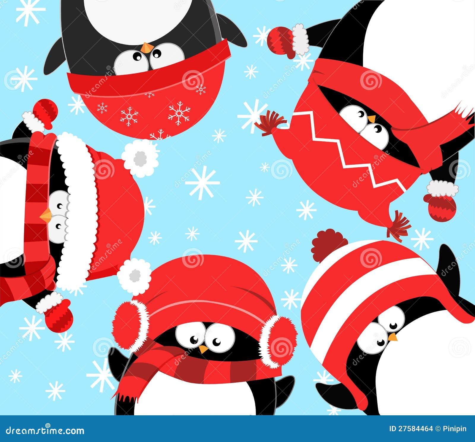 pinguine die weihnachten feiern stockbilder bild 27584464. Black Bedroom Furniture Sets. Home Design Ideas
