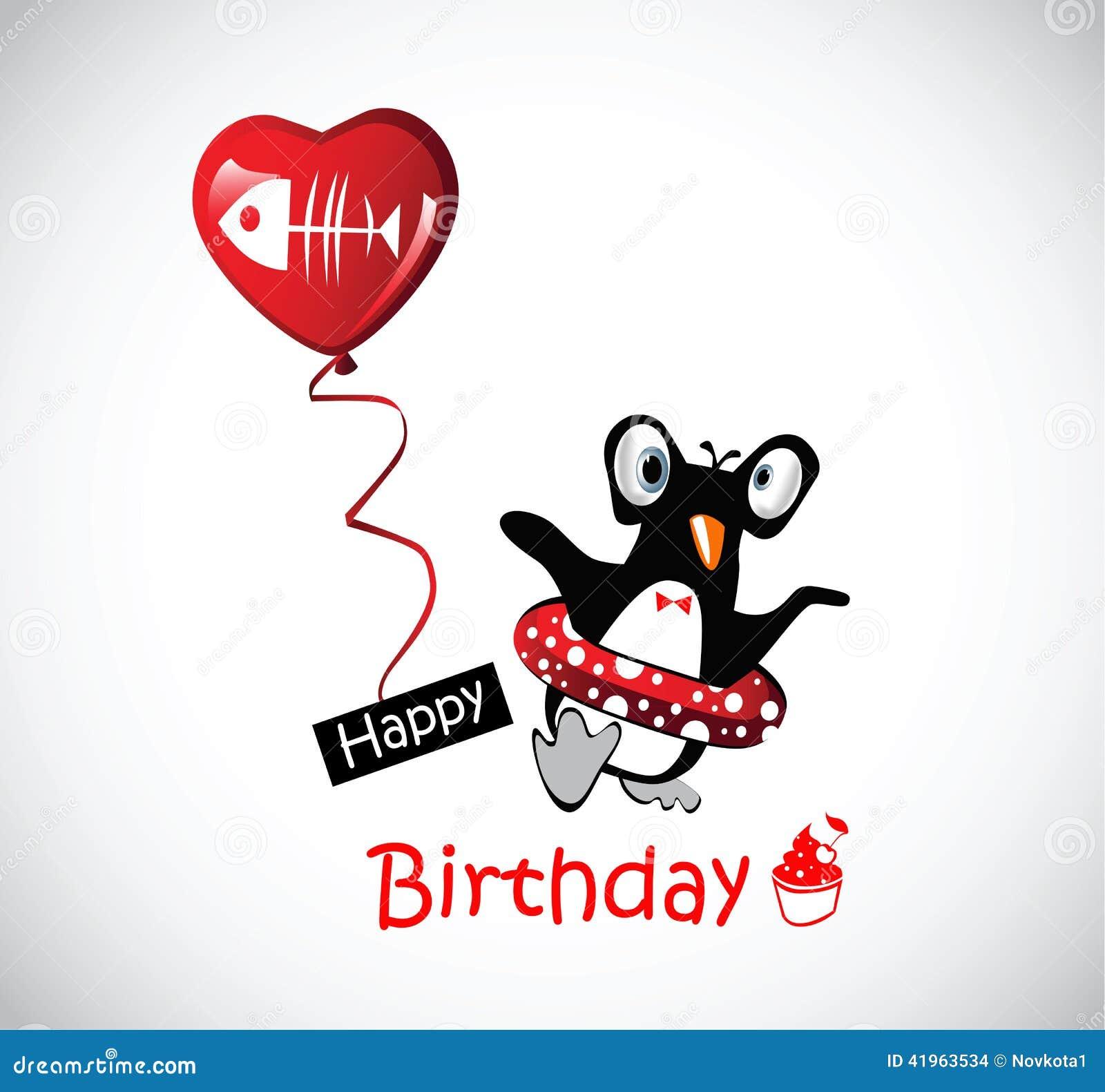 roliga bilder födelsedag Pingvin För Kort För Lycklig Födelsedag Roliga Stock  roliga bilder födelsedag