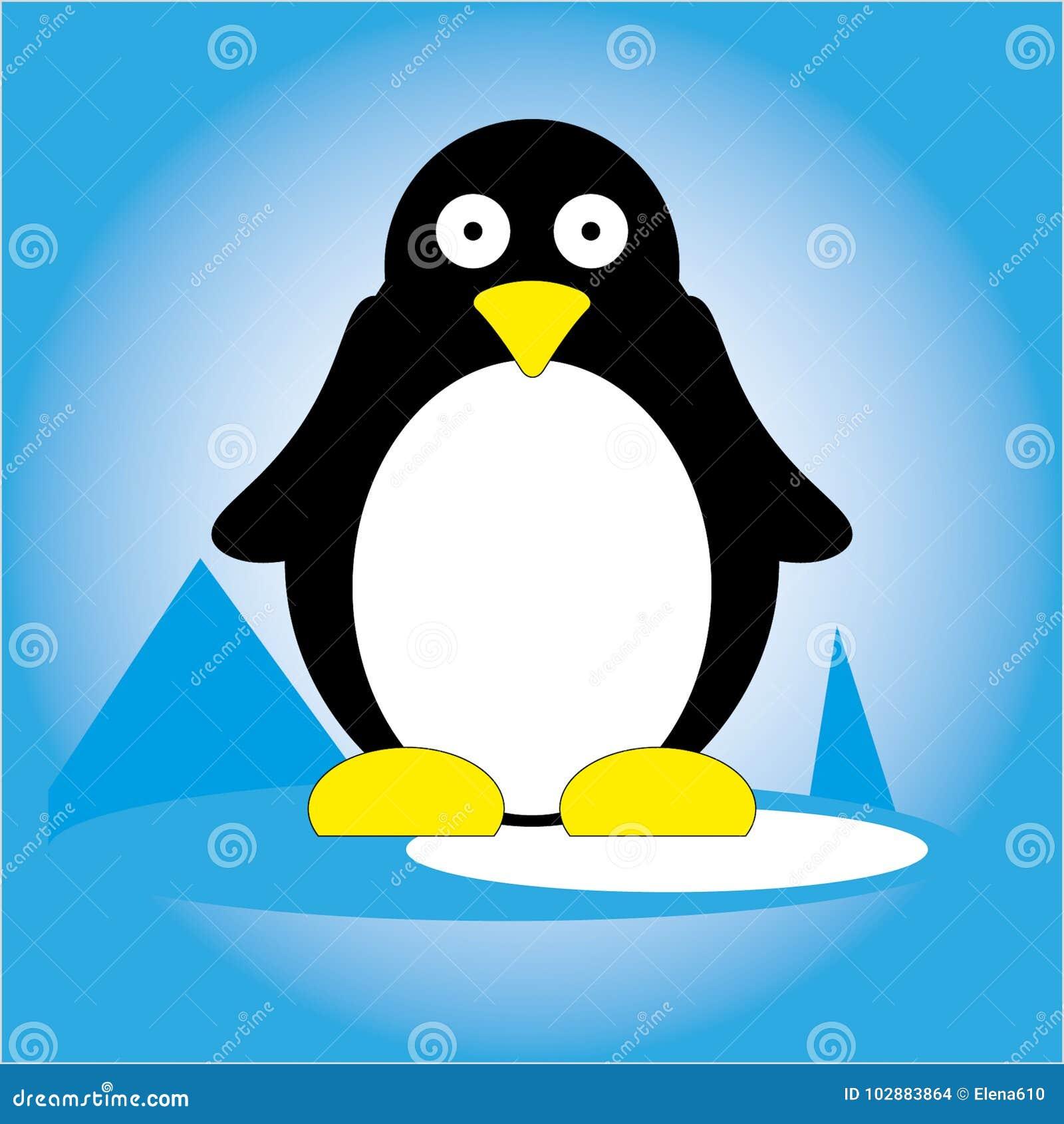 Pingvin på is