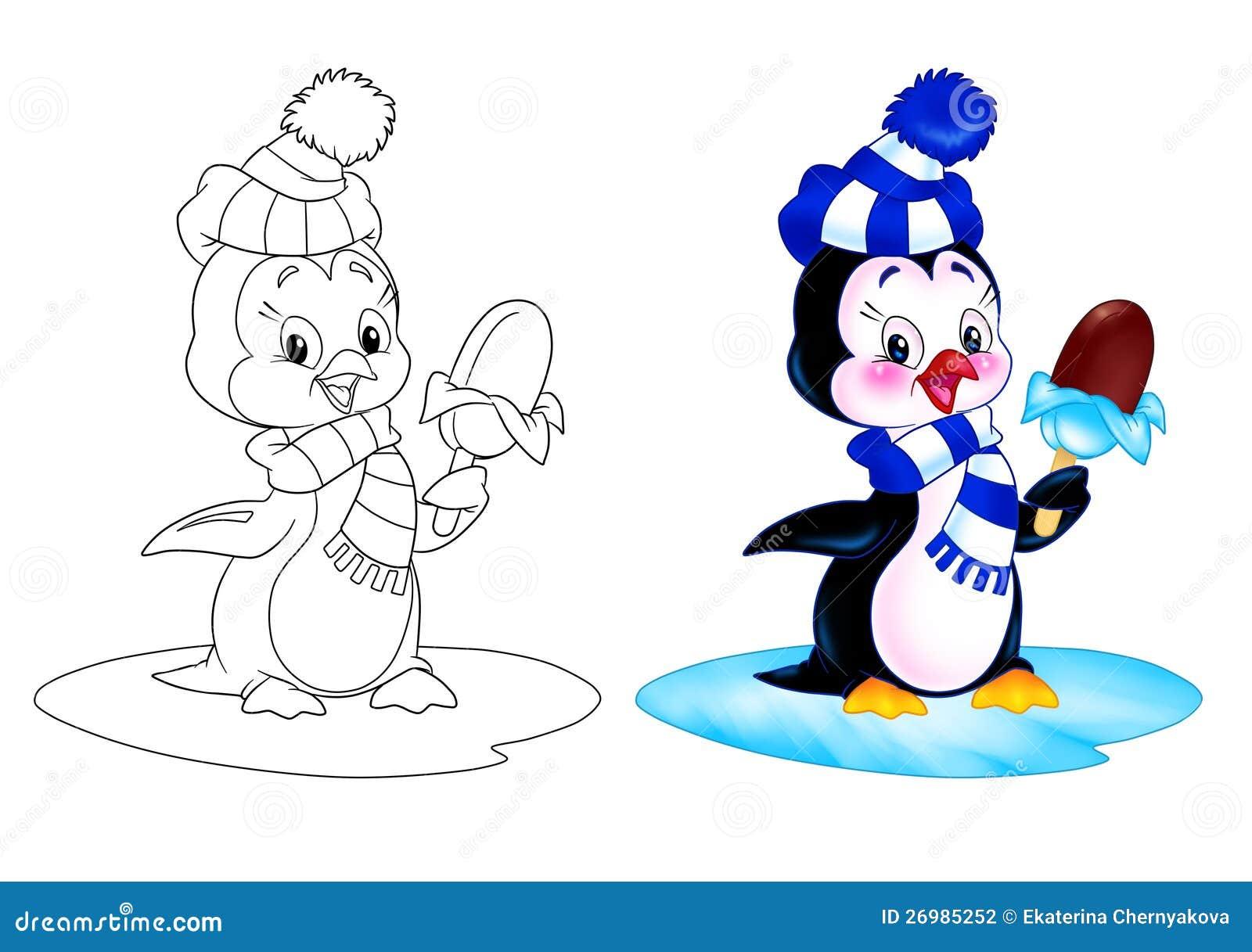 Pingvintecknad filmglass