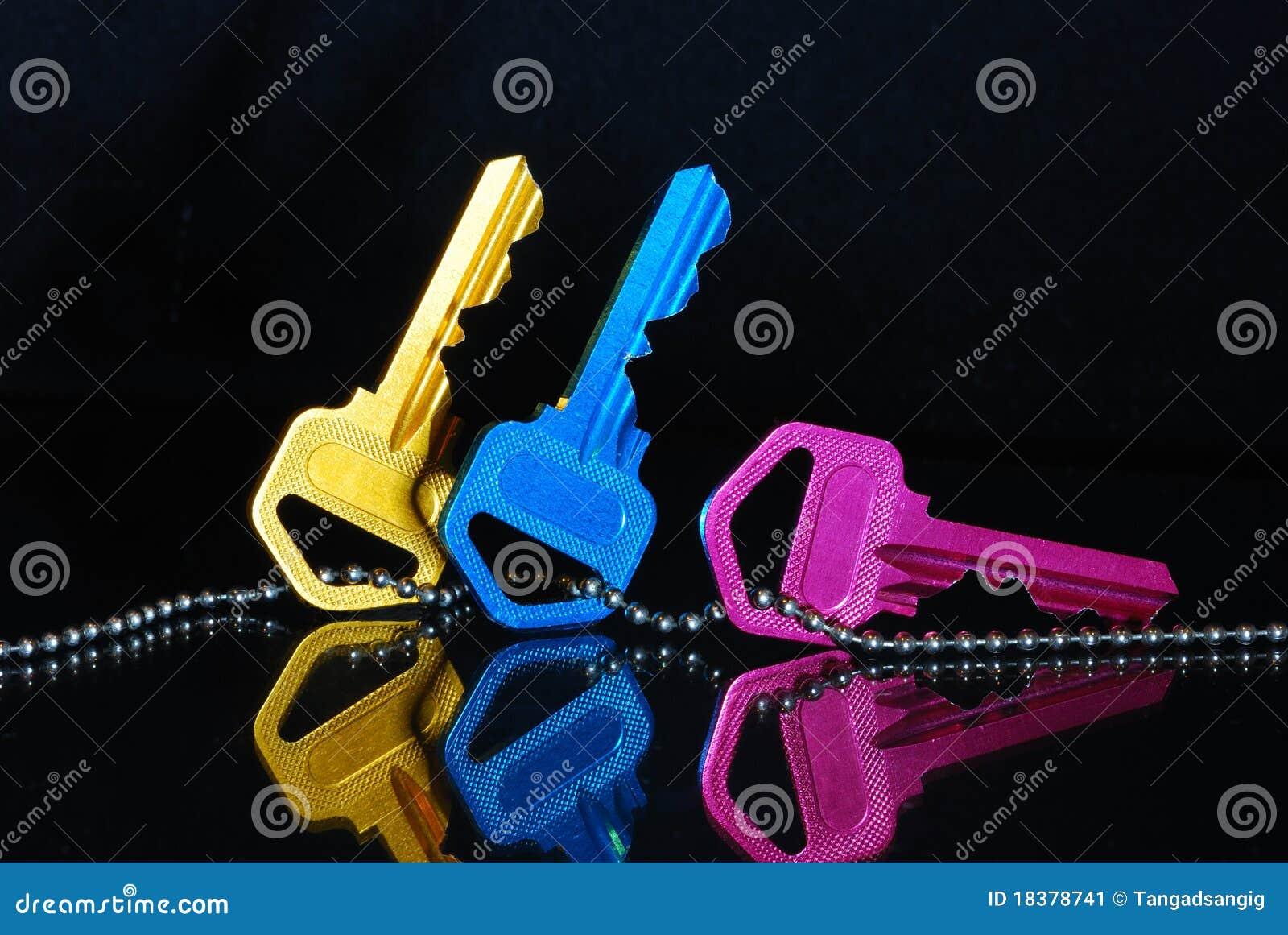 голубые ключи pink желтый цвет