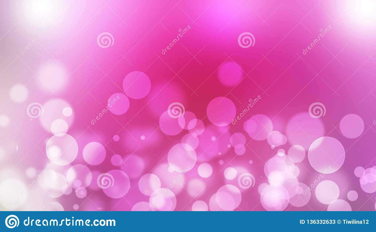 Pink abstract blured background with bokeh