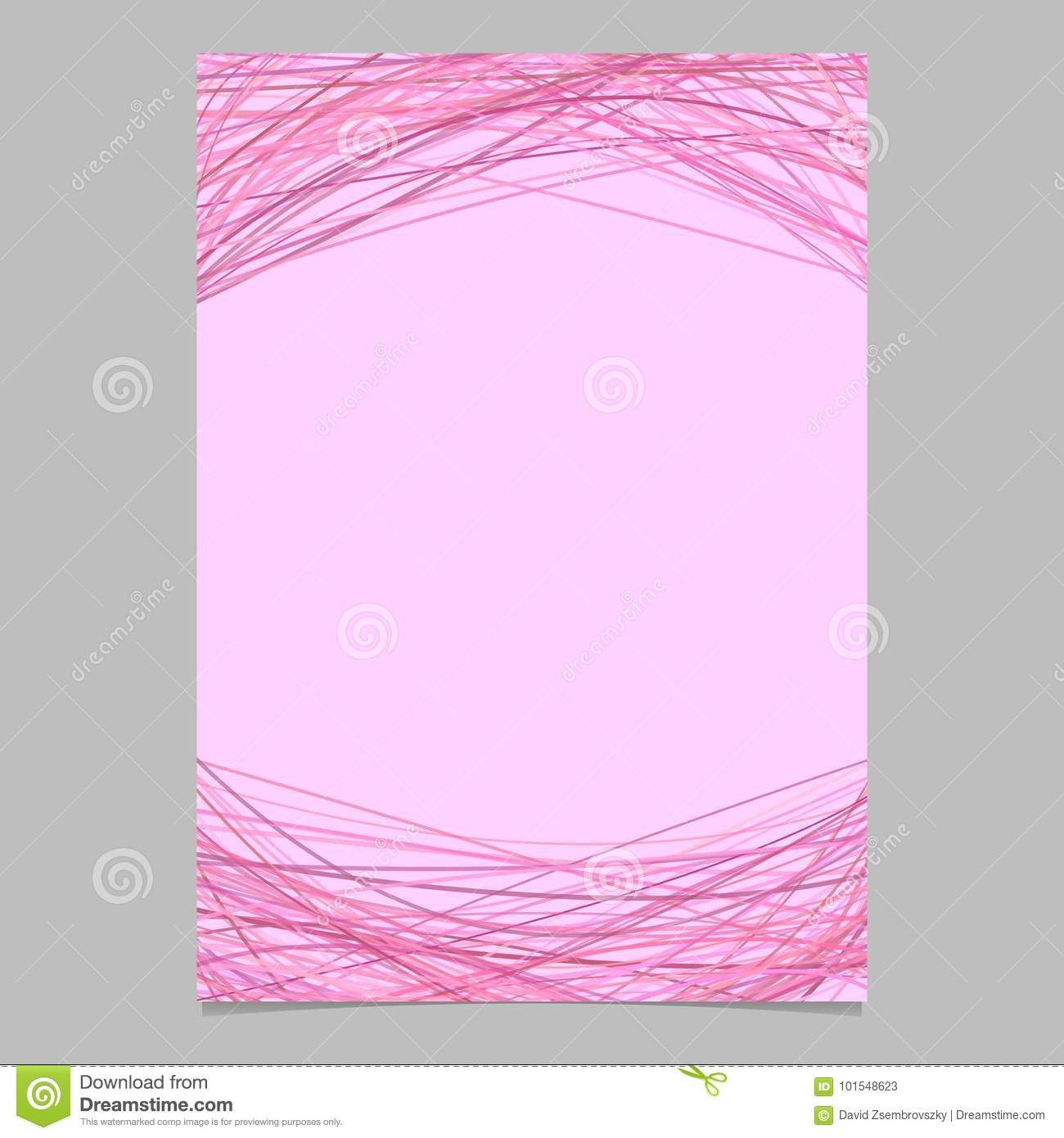 abstract brochure template with random arched lines blank flyer