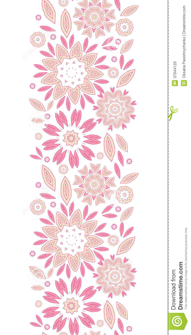 Vertical Flower Pattern Pink Abstract Flowers ...