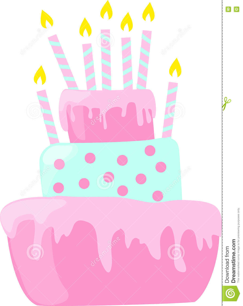 Clipart Romantic Birthday Cake