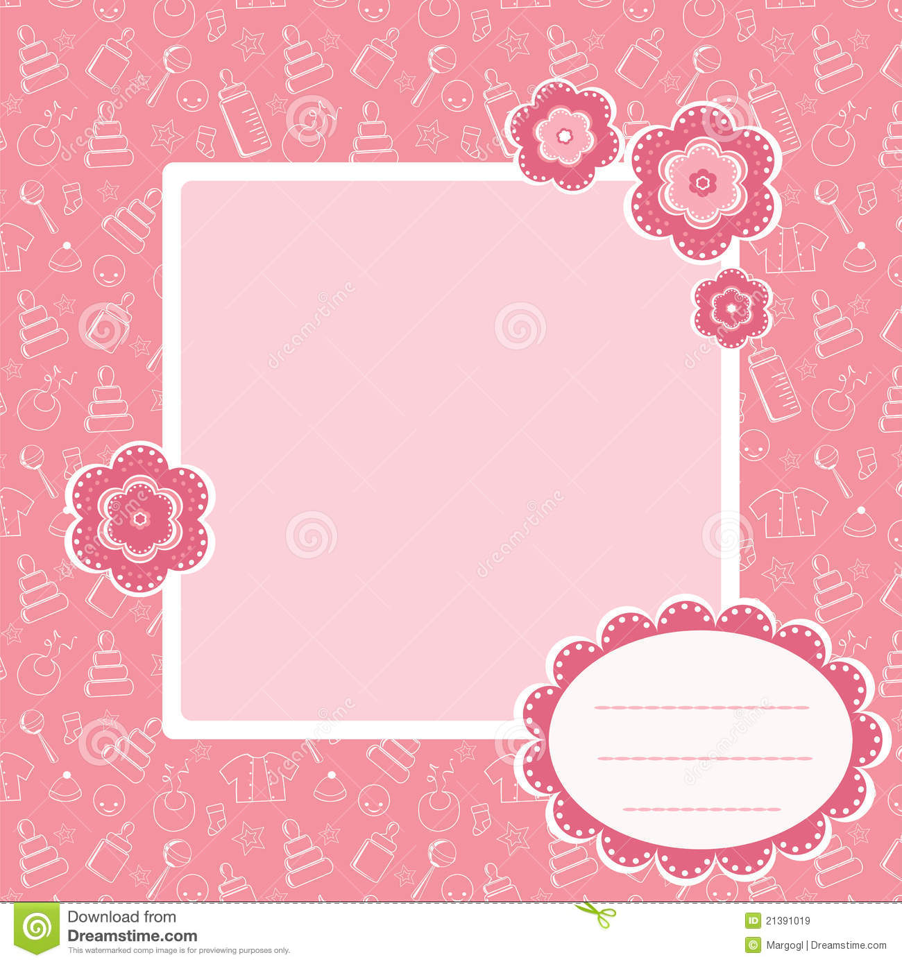 Pink baby background. stock vector. Illustration of swatch - 21391019