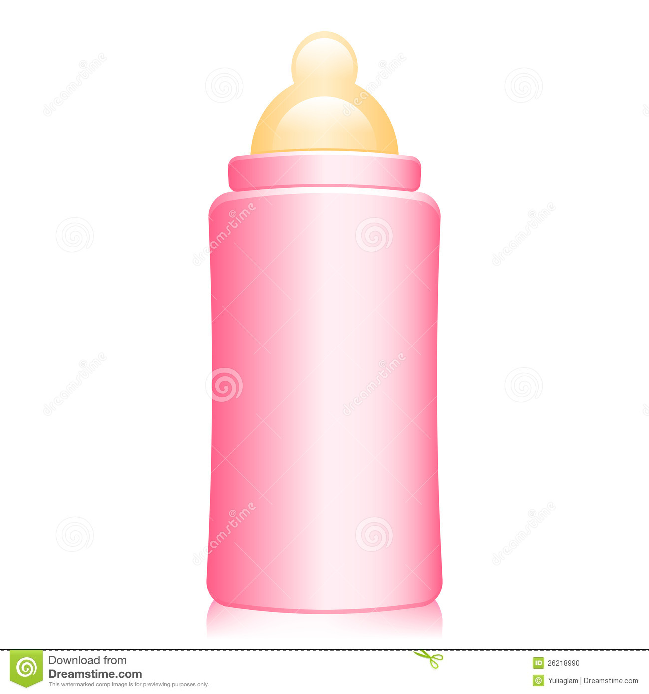 Pink Baby Bottle Stock Photo - Image: 26218990