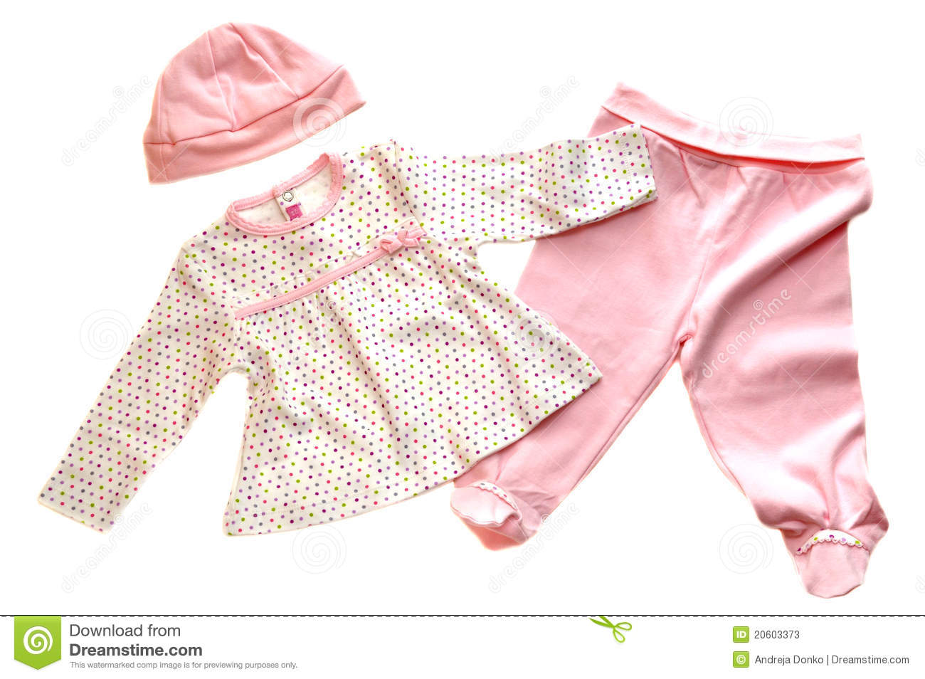 Pink Baby Clothes Stock Image Image Of Girl Small Cute