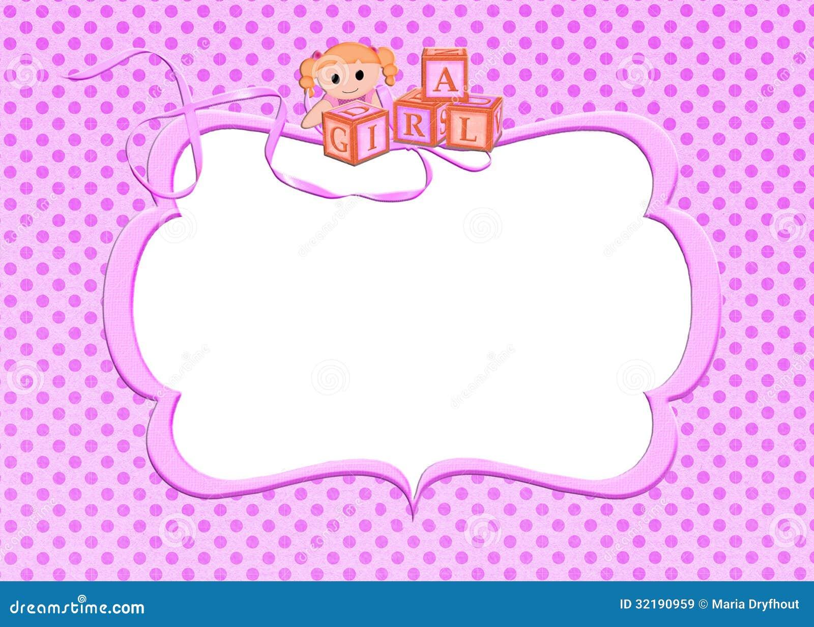 Pink Baby Girl Frame Stock Illustration Image Of Orange 32190959