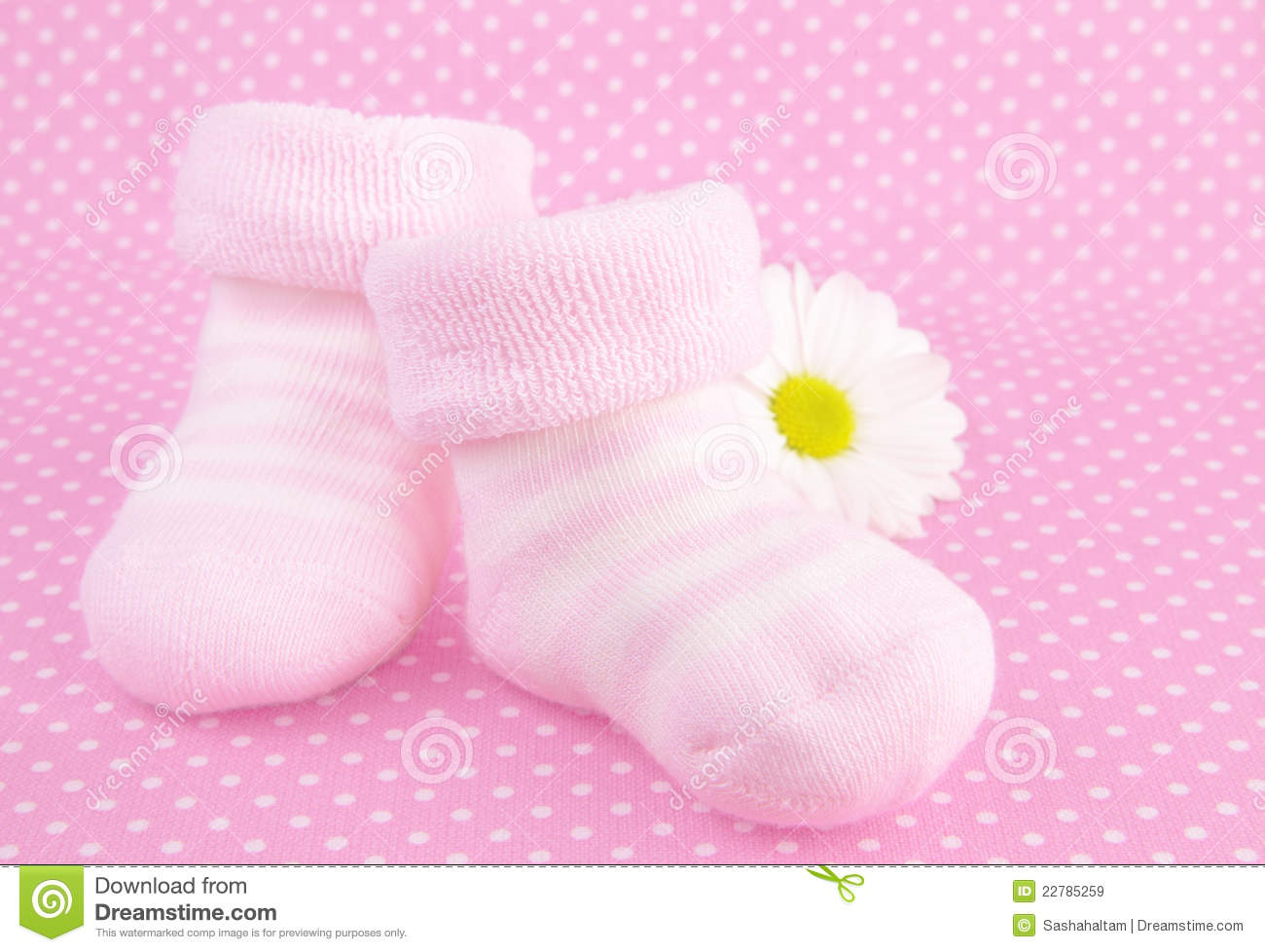 pink baby girl knitted socks or shoes stock image image of close