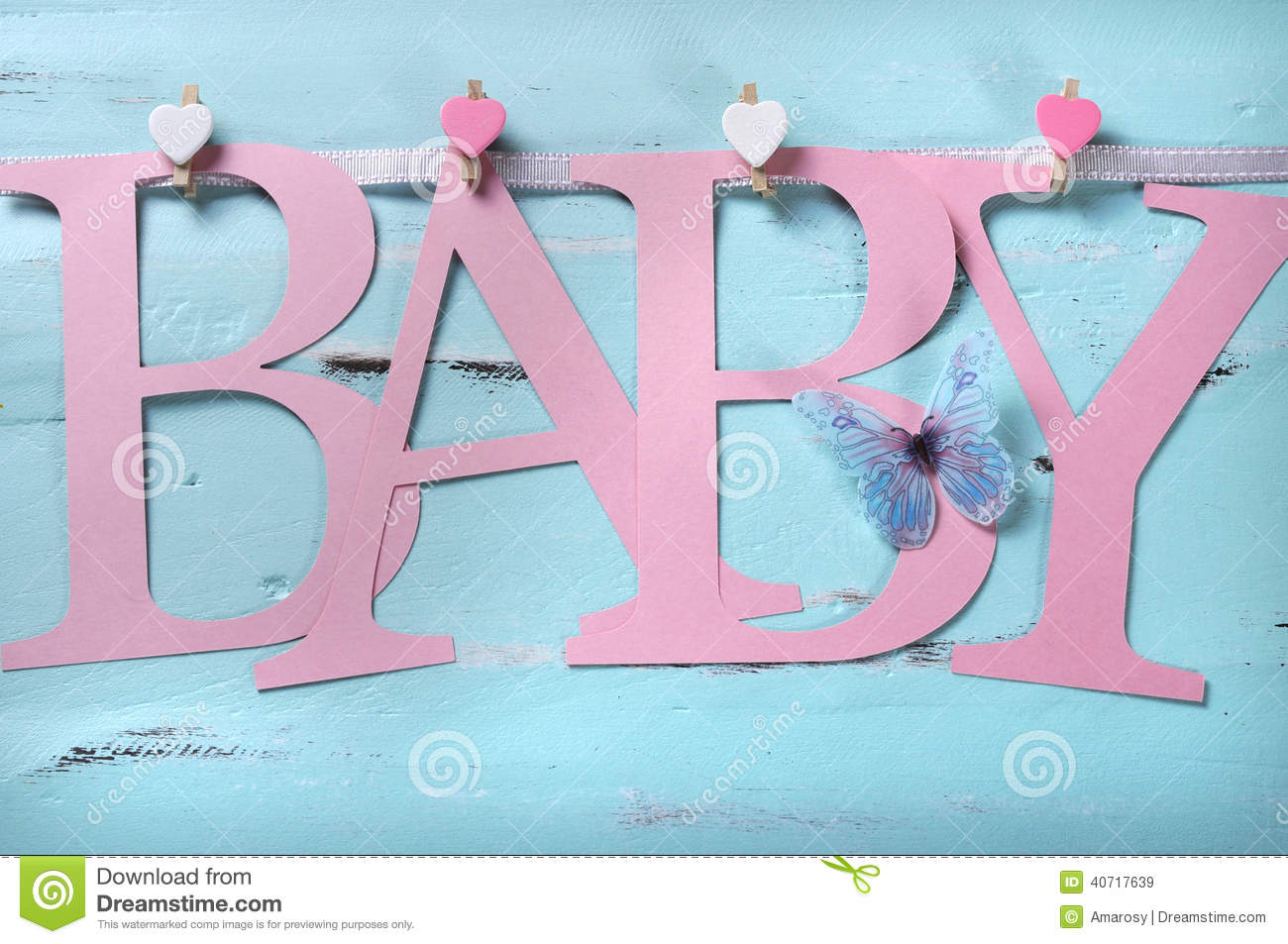 7637bca38 Pink Baby Girl Nursery Letters Bunting Stock Image - Image of gift ...