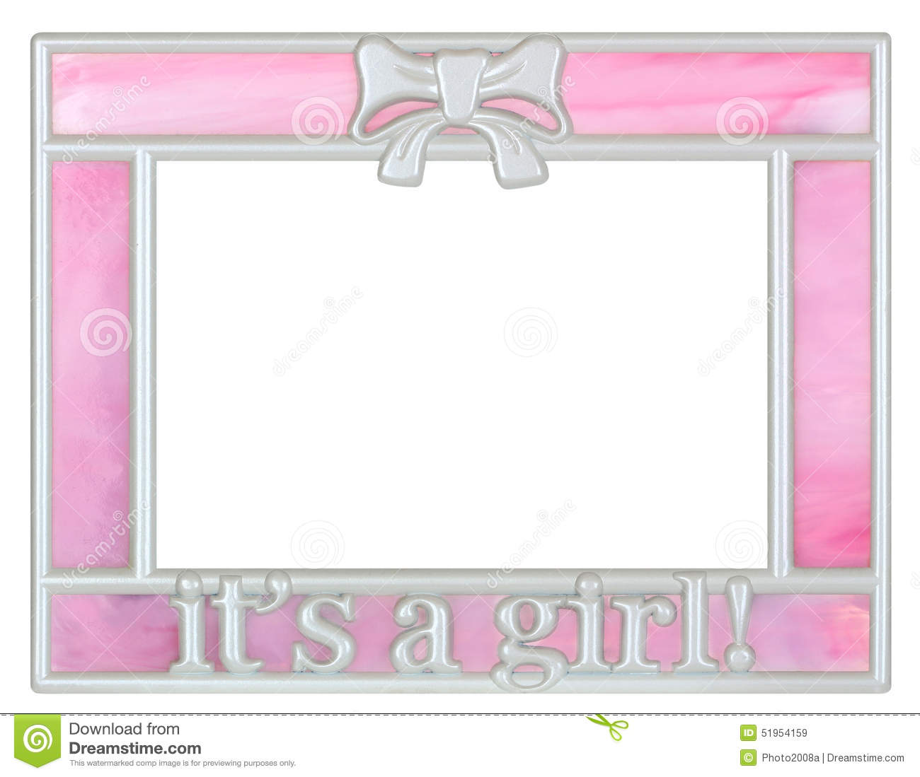 Pink Baby Girl Picture Frame Stock Image - Image of album, empty ...
