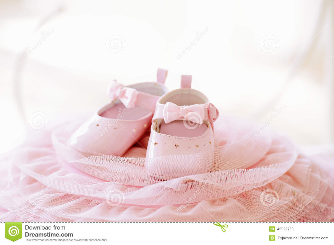 Pink Baby Girl Shoes Stock Image