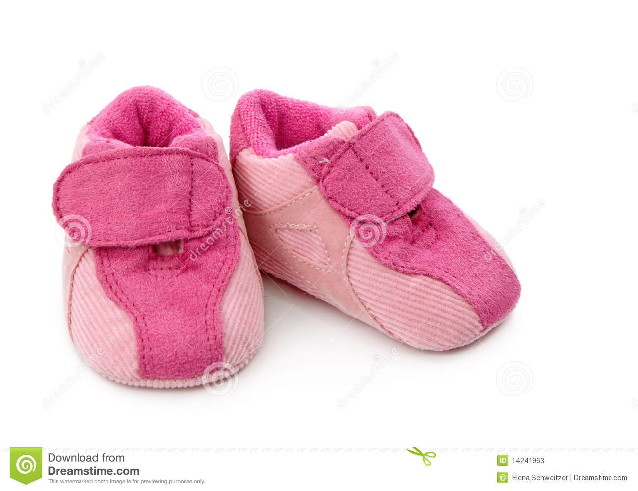 pink baby shoes stock photos image 14241963