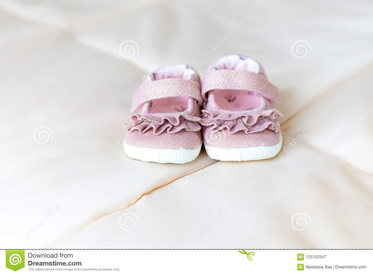 Pink Baby Shoes For Little Girl. Kids
