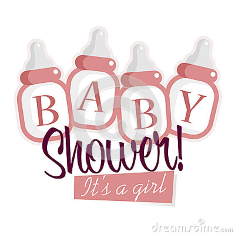 pink baby shower bottles stock vector image 49272764