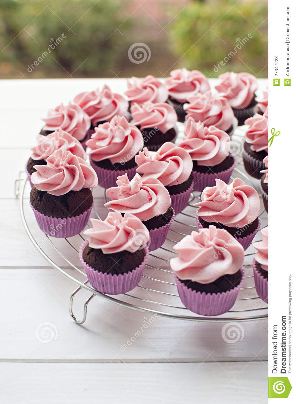 Pink Baby Shower Cupcakes Royalty Free Stock Photos