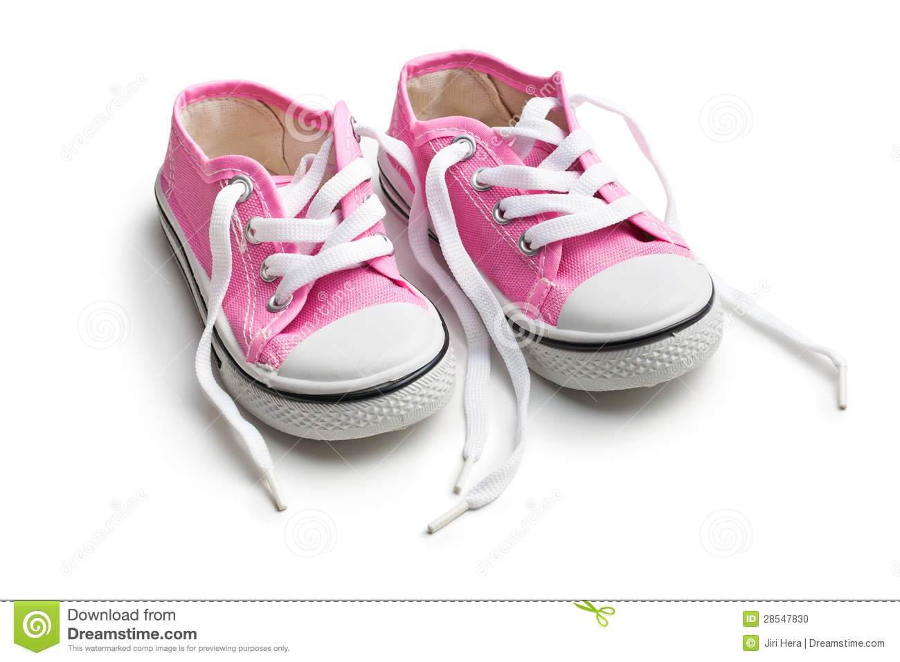 Pink Baby Sneakers Stock Photo Image Of Fashioned Retro