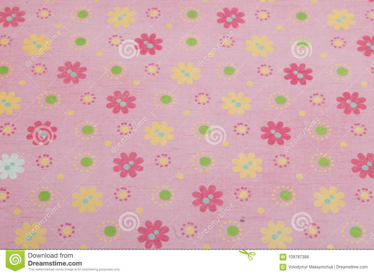 Pink Flower Background Scrapbookingpink Background With Colored
