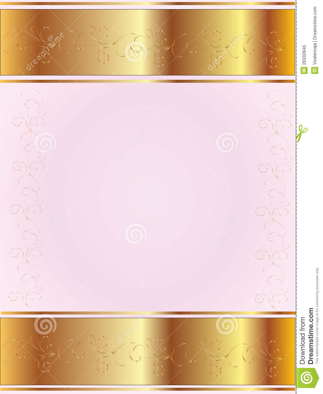 Pink Background With Gold Royalty Free Stock Image - Image ...