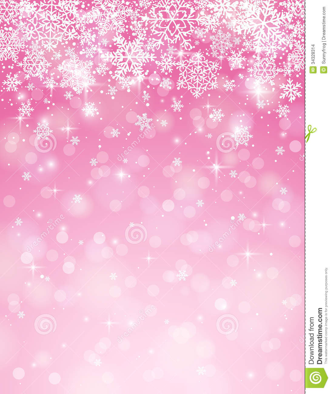 Pink Background With Snowflakes Vector Stock Images