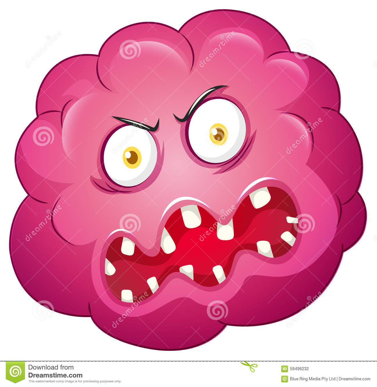 pink bacteria with ugly face stock illustration image germs clip art for bulletin boards germs clip art for kids
