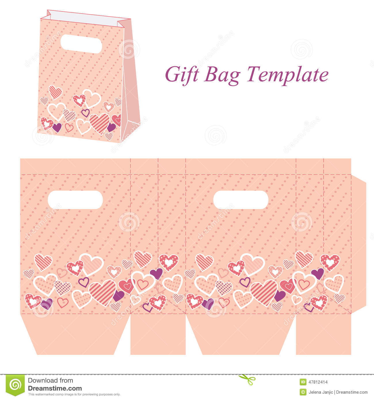Handbag Gift Box Template Best Box And Bag Images On Gifts Boxes