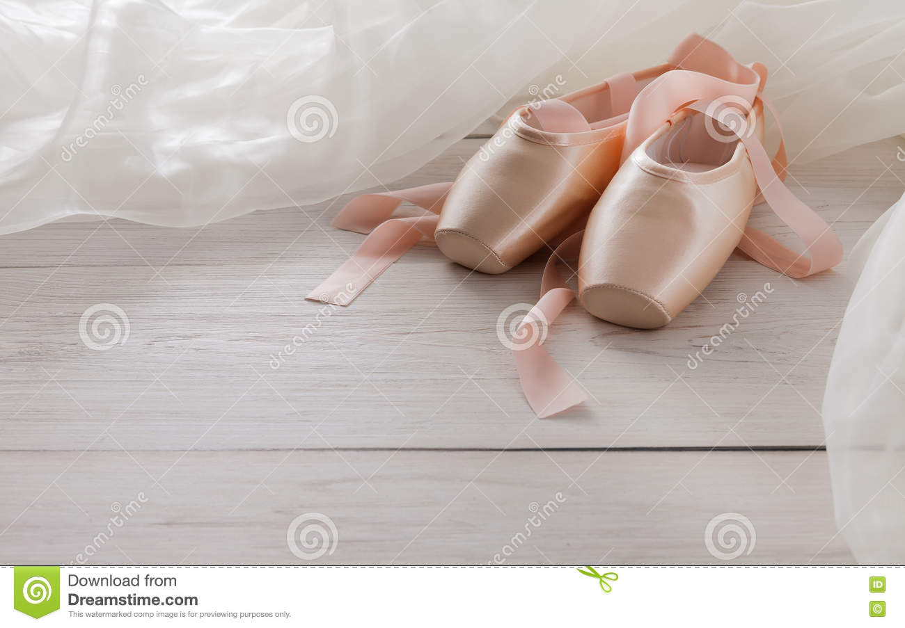 Pointe Shoes On The Background Tutu Royalty-Free Stock Photo | CartoonDealer.com #80904855