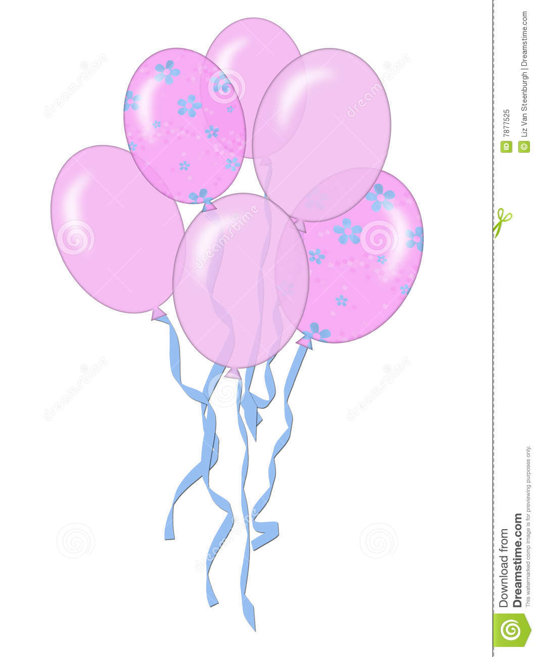 Pink Balloons Royalty Free Stock Photo - Image: 7877525