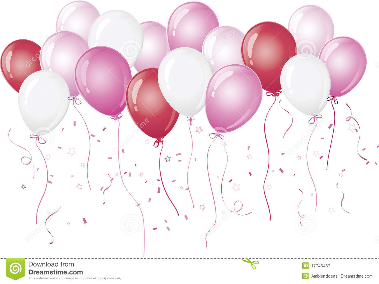 Pink Balloons Floating Against White Royalty Free Stock Photography ...