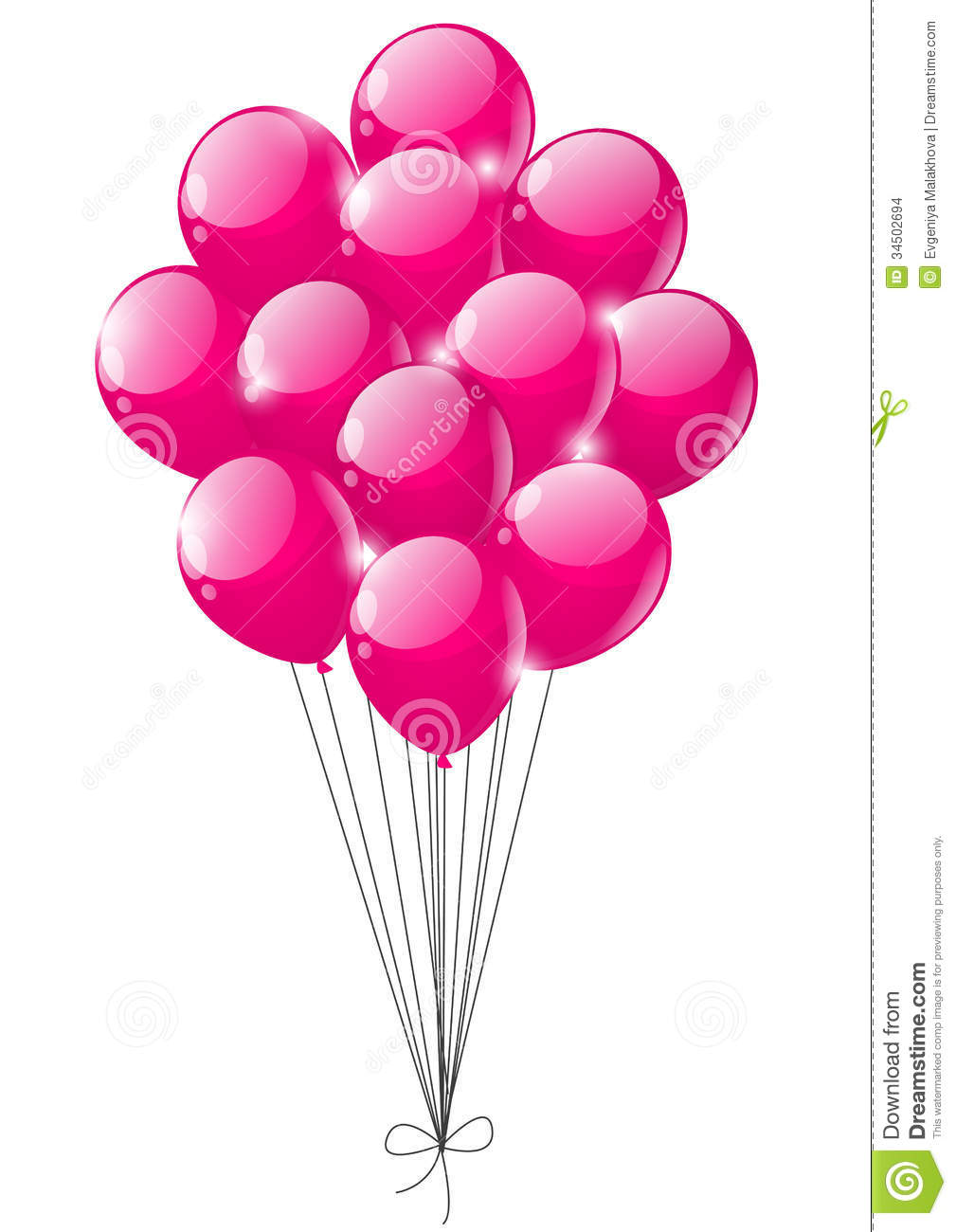 Pink Balloons Stock Images - Image: 34502694